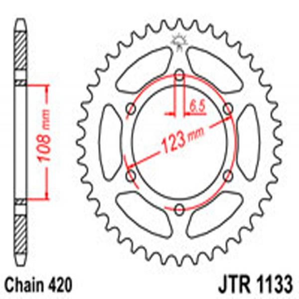 Jt Rear Sprockets R/w 1133-52