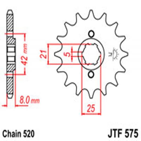 Jt Gear BOX Sprockets G/b 575-14T Yam