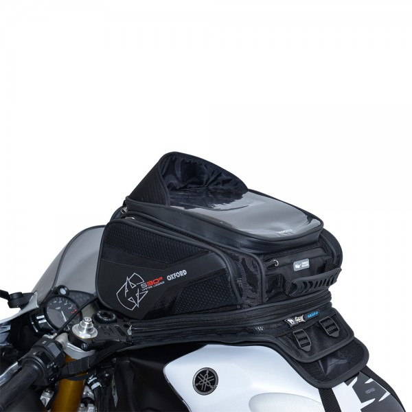Oxford S30R TANK STRAP ON - BLACK