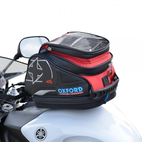 Oxford X4 QR Tank Bag (Red)