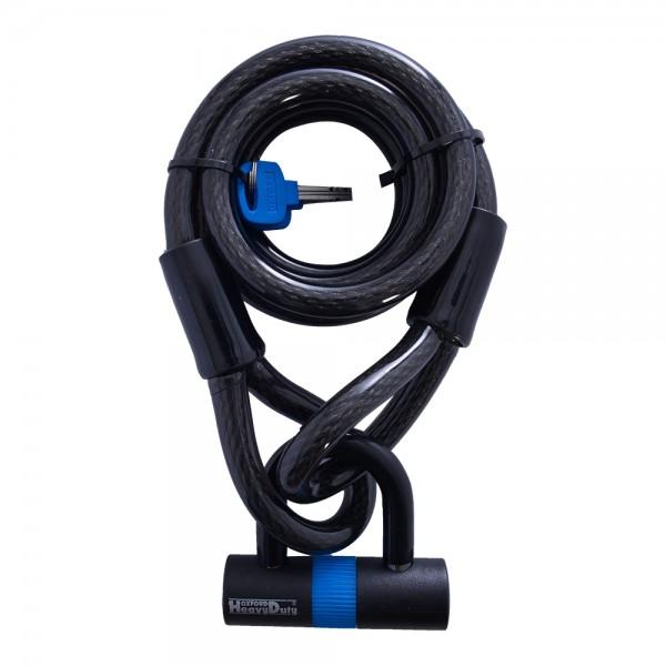 Oxford Loop Lock Cable & Padlock 2m x 15mm
