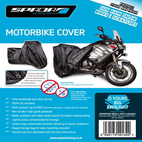 Spada Motorcycle Cover-Adventure [800Cc+ C/w Luggage]