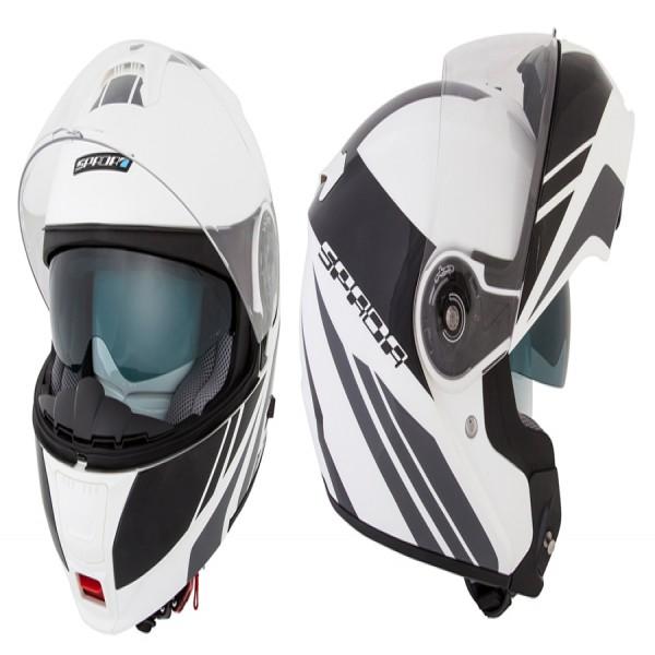 Spada Helmet Cyclone Blast White & Black