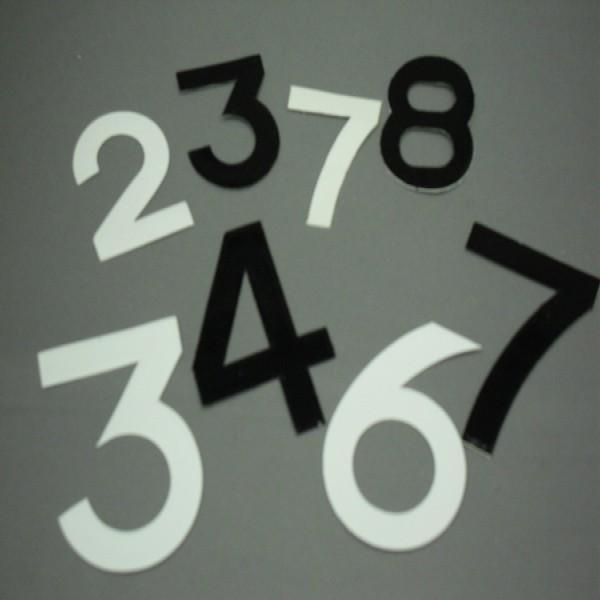 Digits 64Mmx44Mm No 7 [Pack Of 10] Black
