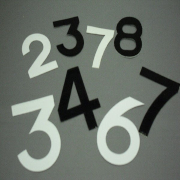 Digits 64Mmx44Mm No 8 [Pack Of 10] Black