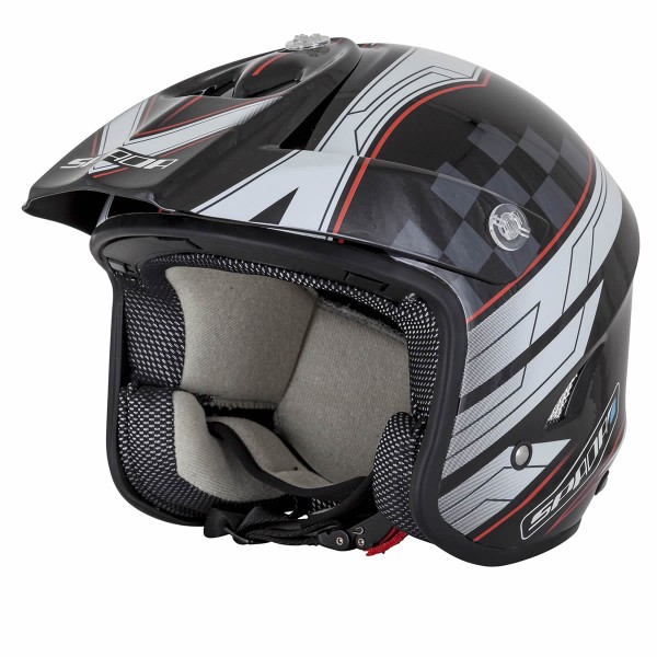 Spada Helmet Edge Explorer Black & White