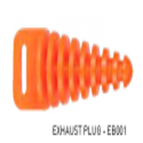 Velo Sport Exhaust Pipe Plug Orange [Eb001]