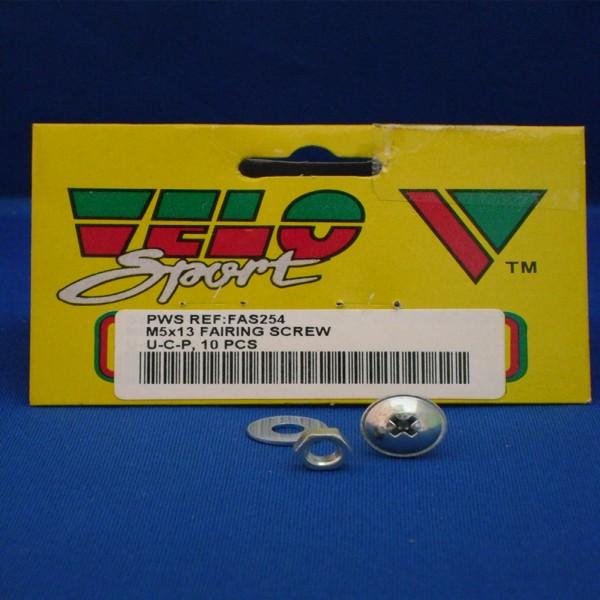 Velo Sport Fairing Screws M5X13Mm Pk-10 [Fas254]