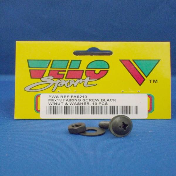 Velo Sport Fairing Screws M6X18Mm Pk-10 [Fas210]