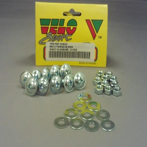 Velo Sport Fairing Screws M6X13Mm Pk-10 [Fas202]