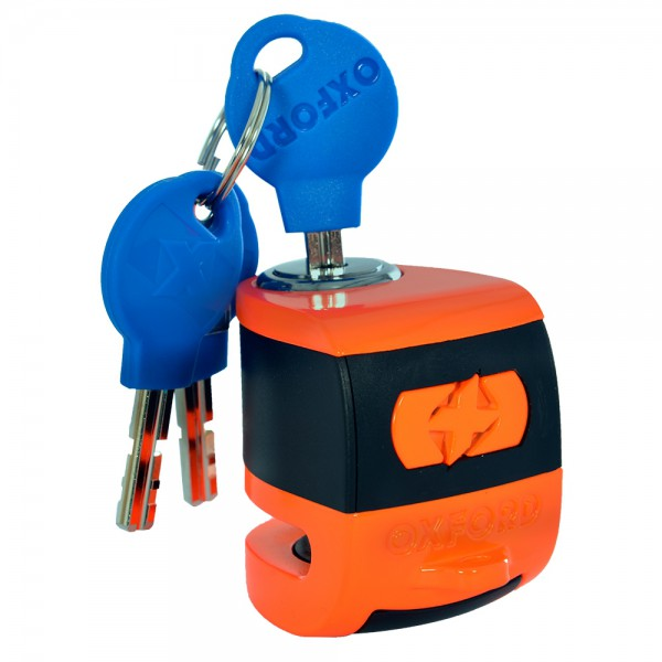 Oxford Scoot XA5 Alarm Disc Lock (5.5mm pin) Orange/Black
