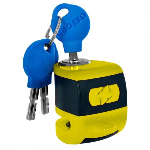 Oxford Scoot XA5 Alarm Disc Lock (5.5mm pin) Yellow/Black