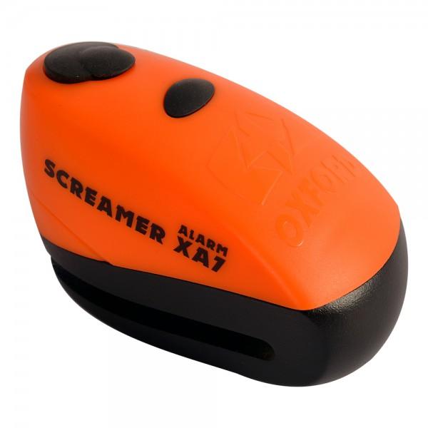 Oxford Screamer XA7 Alarm Disc Lock Orange/Matt Black