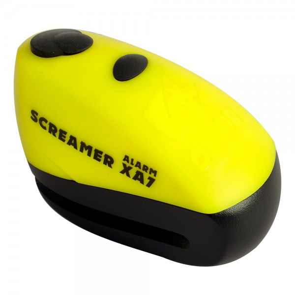 Oxford Screamer XA7 Alarm Disc Lock Yellow/Matt Black