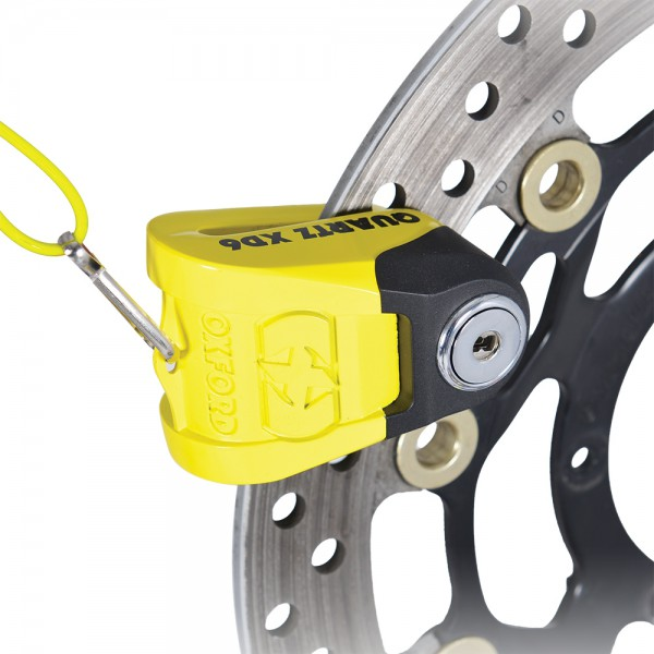 Oxford Quartz XD6 disc lock(6mm pin) Yellow/Black