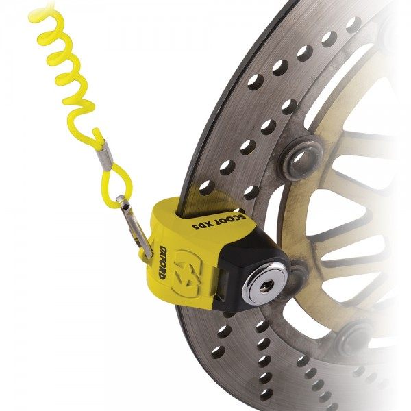 Oxford Scoot XD5 disc lock(5mm pin) Yellow/Black