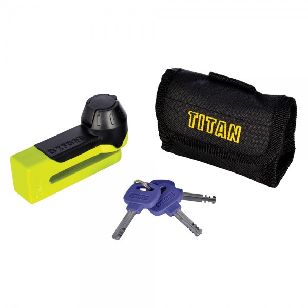 Oxford Titan Yellow Disc-Lock & Pouch