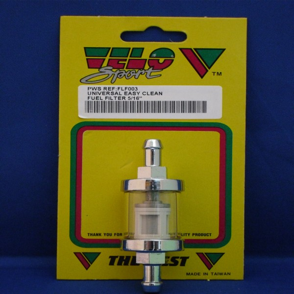 Velo Sport Fuel Filter Uni-8Mm Glass/chrome [Flf003]