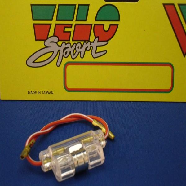 Velo Sport Fuse Holder Clear Holds 25Mm Glass Pk-10 [Fus002]