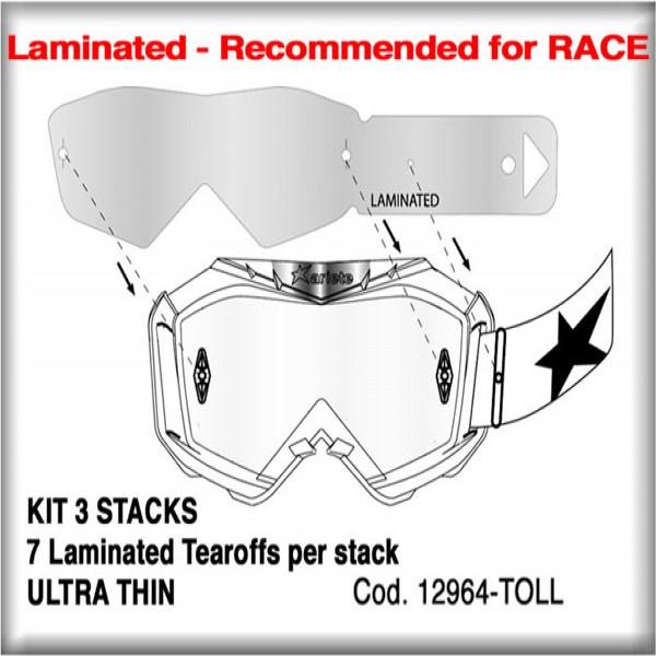 Ariete Goggle Tearoff Kit 12964-Toll [3 Stacks Of 7 Laminated]