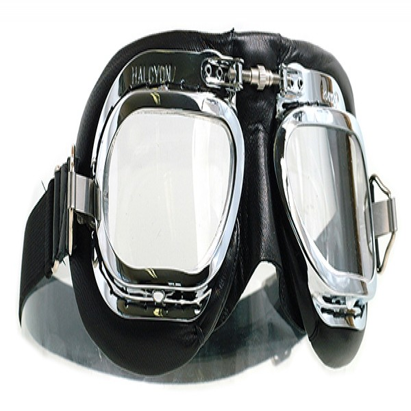 Halcyon Goggles Mk410 Deluxe Leather (Curved Lens)