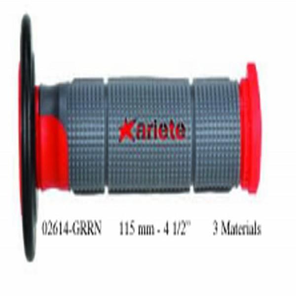 Ariete 02614-Grrn Grips (Off-Road) Trinity Red 125Mm