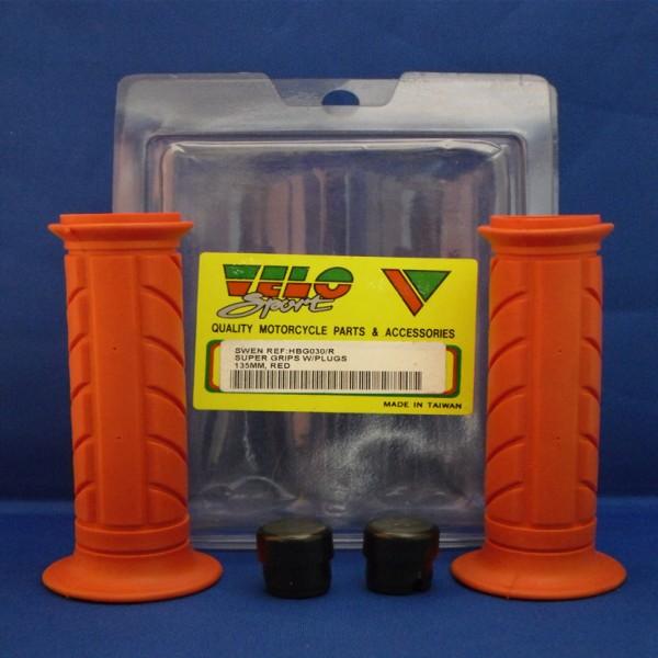 Velo Sport Handlebar Grips Super Red Pair [Hbg030/r]