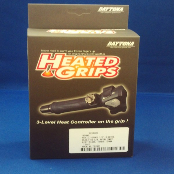 """Daytona Heated Grips Open End-Intergrated Switch For 7/8"""" Bars"""