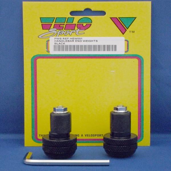 Velo Sport Handlebar End Weight-Black Pair [Hew001]