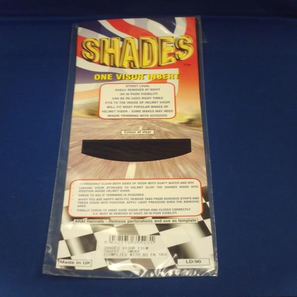 Shades Visor Insert Film Smoke