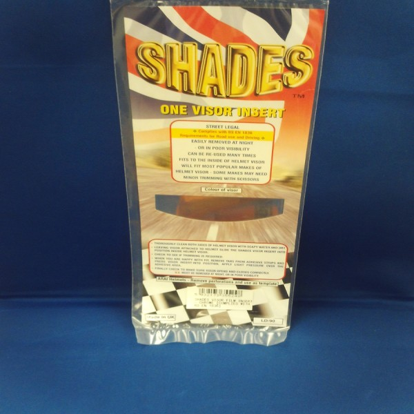 Shades Visor Insert Film Chrome