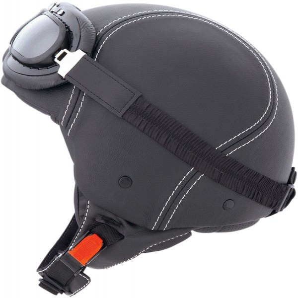 Caberg Jet Century Black Leather