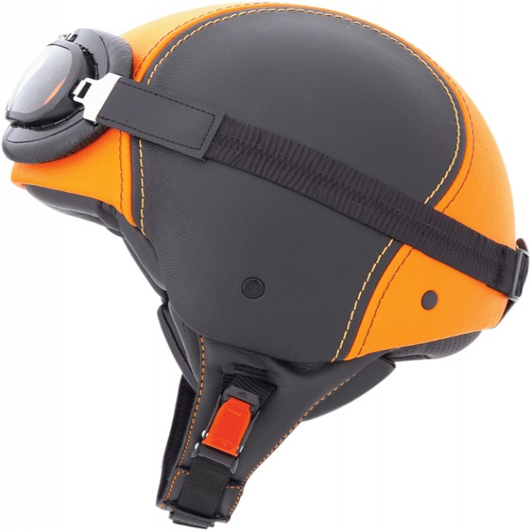 Caberg Jet Century Black & Orange Leather