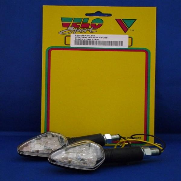 Velo Sport Winker Lamp Led Diamond Long Clear [Pair] [Wl549]