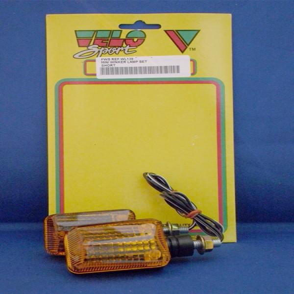 Velo Sport Winker Lamp Mini Short Stem [Pair] [Wl139]