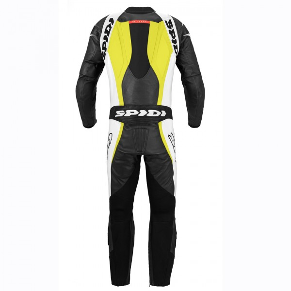 Spidi Gb Supersport Wind Leather Suit Black & White & Yellow