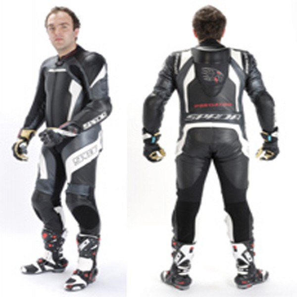 Spada Leather Suit 1 Piece Predator Black & White ite & Silver