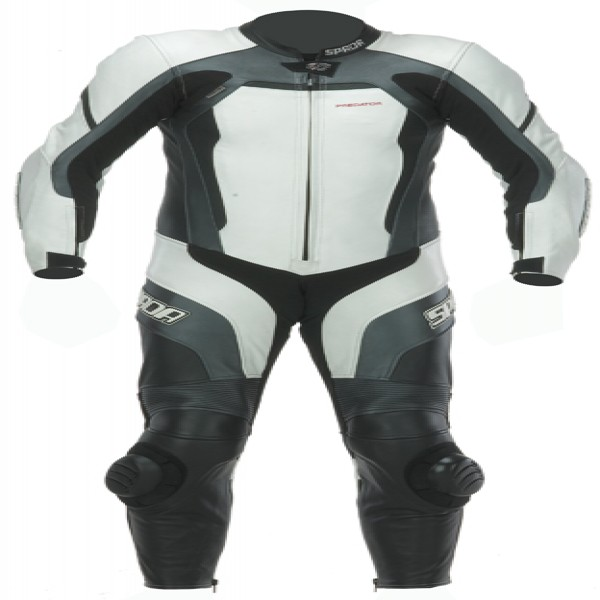 Spada Leather Suit 1 Piece Predator White & Black