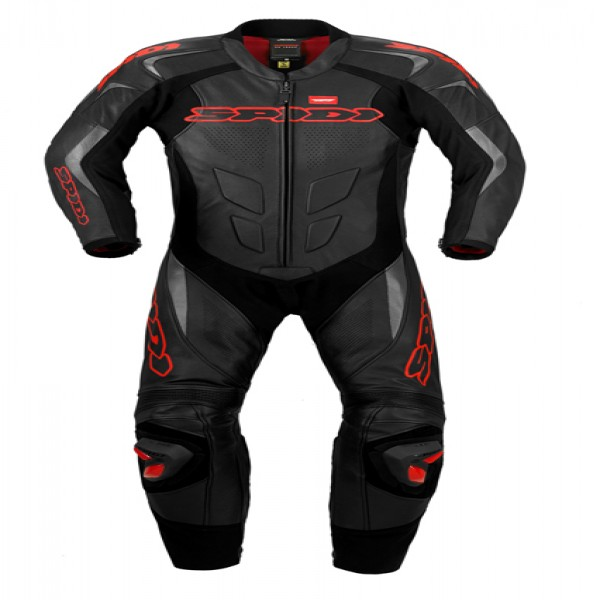Spidi It Supersport Wind Pro Leather Suit Black & Red-S