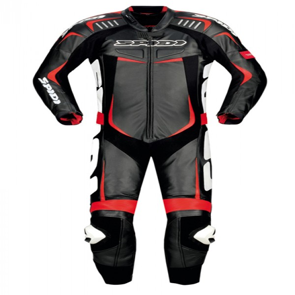 Spidi It Track Wind Pro Leather Suit Black & Red