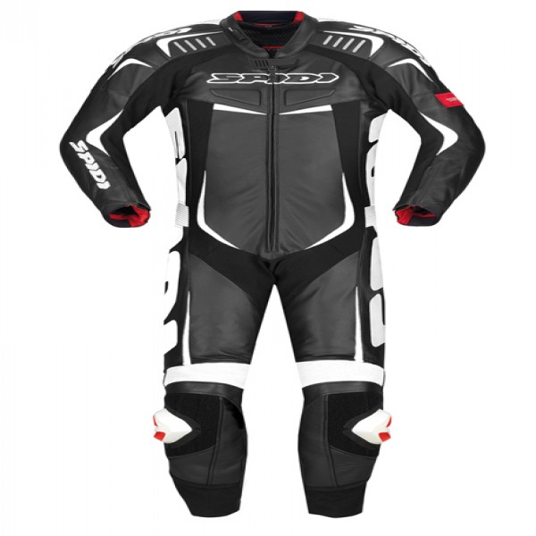 Spidi It Track Wind Pro Leather Suit Black & White