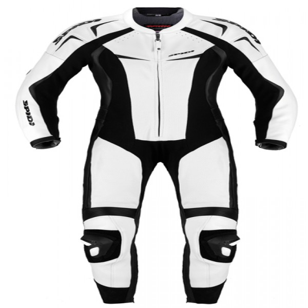 Spidi It Track Wind Pro Lady Leather Suit White & Black