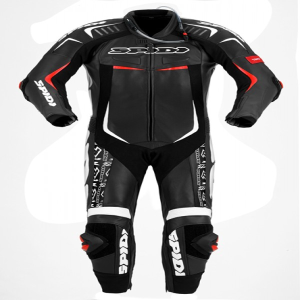 Spidi It Track Wind Replica Evo Leather Suit Black & White