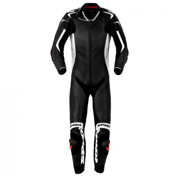 Spidi Gb Wind Pro Piloti Leather Suit Black & White