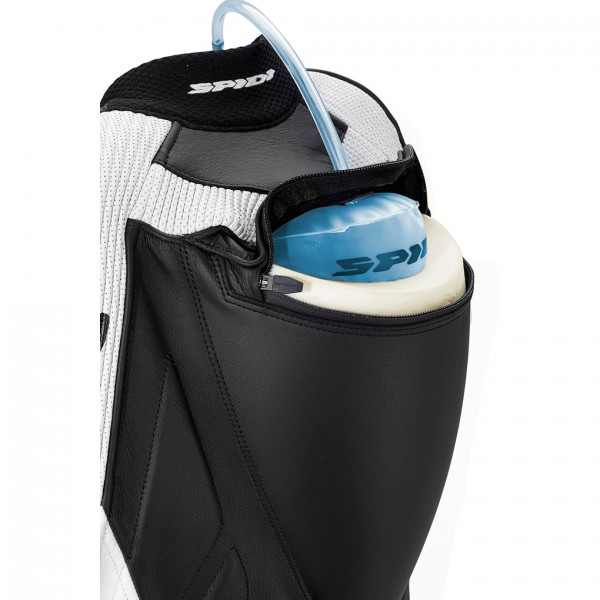 Spidi Gb Wind Pro Piloti Leather Suit Black & White