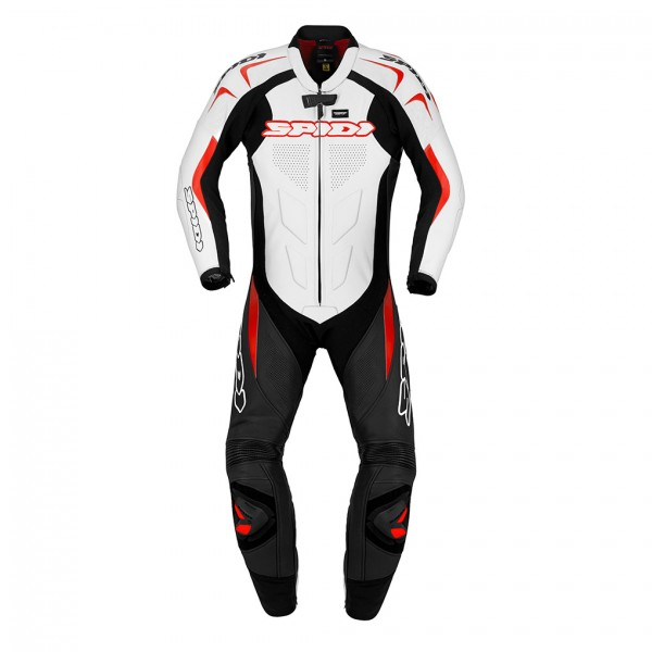 Spidi It Supersport Wind Leather Suit Black & White & Red