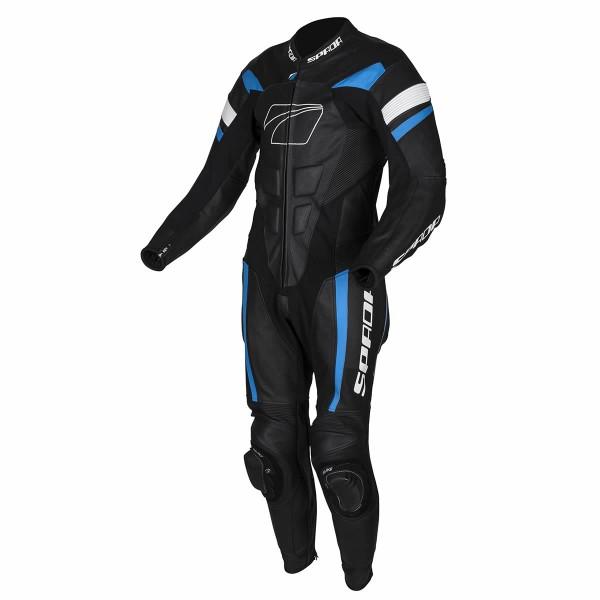 Spada Leather Suit 1 Piece Curve Evo Black & Blue & White