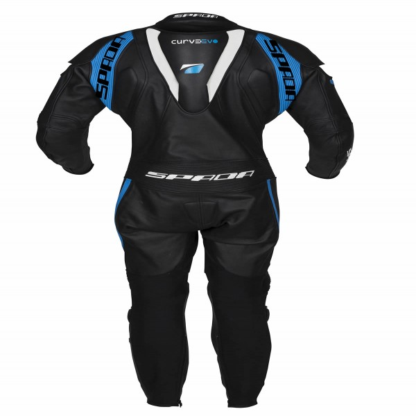 Spada Leather Suit 1 Piece Curve Evo Black & Blue & White