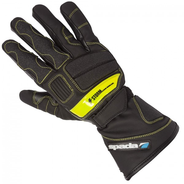 Spada Leather Gloves Storm Wp Black & Fluo