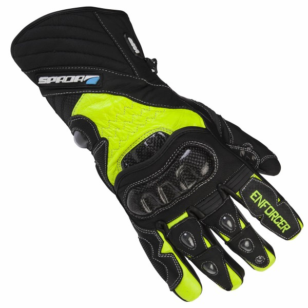 Spada Leather Gloves Enforcer Wp Black & Fluo